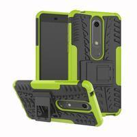 Outdoor odolný obal so stojančekom na Nokia 6.1 - zelený