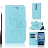 Dream PU kožené peňaženkové puzdro na mobil Nokia 6.1 - zelené