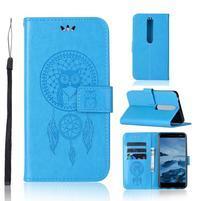 Dream PU kožené peňaženkové puzdro na mobil Nokia 6.1 - modré