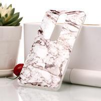 Marble silikónový kryt na mobil Nokia 6.1 - bielo-sivý