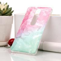 Marble silikónový kryt na mobil Nokia 6.1 - zelenoružový