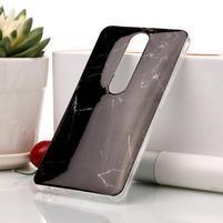 Marble silikónový kryt na mobil Nokia 6.1 - čierny