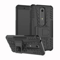 Outdoor odolný obal so stojančekom na Nokia 6.1 - čierny