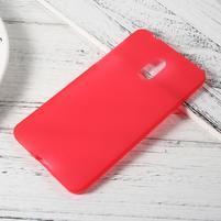 Matný gélový obal pre mobil Nokia 6 - červený