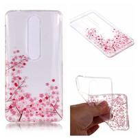 Printy silikónový kryt na mobil Nokia 6.1 - ružové kvety