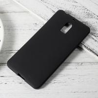 Matný gélový obal pre mobil Nokia 6 - čierny
