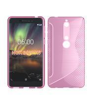 S-line silikónový kryt na mobil Nokia 6.1 - ružový