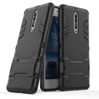 Defender odolný obal so stojanom na Nokia 8 - čierny