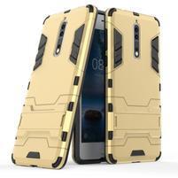 Defender odolný obal so stojanom na Nokia 8 - zlatý