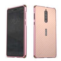 Metal 2v1 odolný obal na mobil Nokia 8 - rosegold