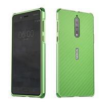 Metal 2v1 odolný obal na mobil Nokia 8 - zelený