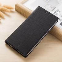 Leathy PU kožené klopové puzdro na mobil Nokia 8 a Nokia 9 - čierne