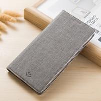 Leathy PU kožené klopové puzdro na mobil Nokia 8 a Nokia 9 - šedé