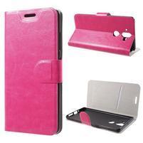 Horse PU kožené puzdro na mobil Nokia 8 Sirocco - rose
