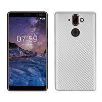 Carbon gélový obal na mobil Nokia 8 Sirocco - strieborný