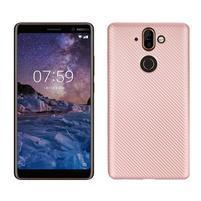 Carbon gélový obal na mobil Nokia 8 Sirocco - rosegold
