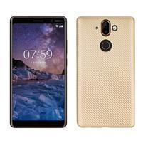 Carbon gélový obal na mobil Nokia 8 Sirocco - zlatý