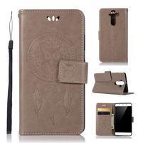 Dream PU kožené puzdro na mobil Nokia 8 Sirocco - sivé