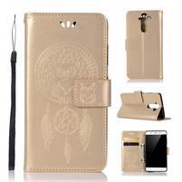 Dream PU kožené puzdro na mobil Nokia 8 Sirocco - zlaté