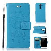 Dream PU kožené puzdro na mobil Nokia 8 Sirocco - modré