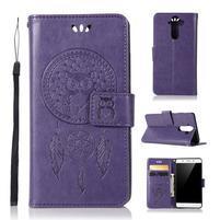 Dream PU kožené puzdro na mobil Nokia 8 Sirocco - fialové