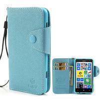 Peňaženkové puzdro s pútkom na Nokia Lumia 625 - svetlomodré