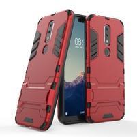 Kick odolný hybridný kryt na mobil Nokia 6.1 Plus - červený