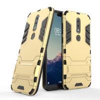Kick odolný hybridný kryt na mobil Nokia 6.1 Plus - zlatý