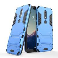 Kick odolný hybridný kryt na mobil Nokia 6.1 Plus - modrý