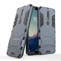 Kick odolný hybridný kryt na mobil Nokia 6.1 Plus - tmavomodrý