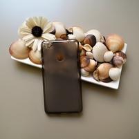 Matný gelový obal na mobil Nubia N1 - šedý