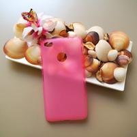 Matný gelový obal na mobil Nubia N1 - ružový