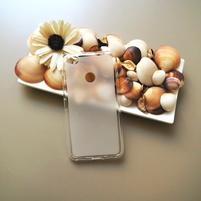 Matný gelový obal na mobil Nubia N1 - transparentný