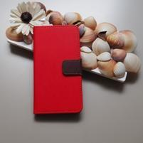 Duocolor PU kožené puzdro na mobil Nubia Z11 - červené