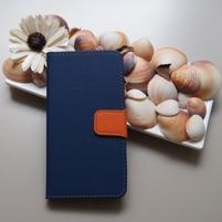 Duocolor PU kožené puzdro na mobil Nubia Z11 - modré