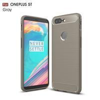 Carb gélový odolný obal na mobil OnePlus 5T - sivý