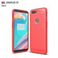 Carb gélový odolný obal na mobil OnePlus 5T - červený