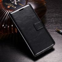 Horse PU kožené peňaženkové puzdro na OnePlus 5T - čierne