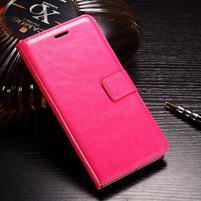 Horse PU kožené peňaženkové puzdro na OnePlus 5T - rose