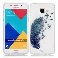 Nicis gélový obal pre mobil Samsung Galaxy A3 (2016) - vtáčie pírko