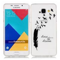 Nicis gélový obal pre mobil Samsung Galaxy A3 (2016) - pírko
