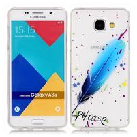 Nicis gélový obal pre mobil Samsung Galaxy A3 (2016) - modré pírko