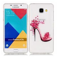 Nicis gélový obal pre mobil Samsung Galaxy A3 (2016) - kvetinový topánka