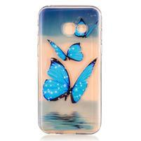 Softy gélový obal pre Samsung Galaxy A3 (2017) - motýle