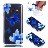 Rubbi gélový obal na Samsung Galaxy A3 (2017) - modré motýle