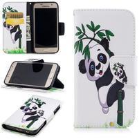 Patty peňaženkové puzdro na Samsung Galaxy A3 (2017) - panda na bambuse