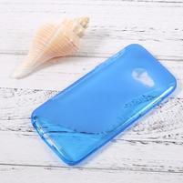 Sline gélový obal pre mobil Samsung Galaxy A3 (2017) - modrý