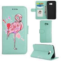 Flamingo PU kožené puzdro na mobil Samsung Galaxy A5 (2017) - cyan
