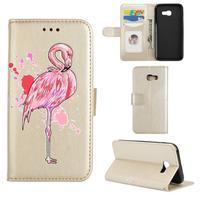 Flamingo PU kožené puzdro na mobil Samsung Galaxy A5 (2017) - zlaté
