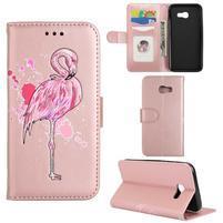 Flamingo PU kožené puzdro na mobil Samsung Galaxy A5 (2017) - rosegold